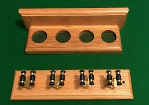 SNOOKER-POOL-OAK-HAND-CRAFTED-4-CUE-RACK-EASY-ASSEMBLY