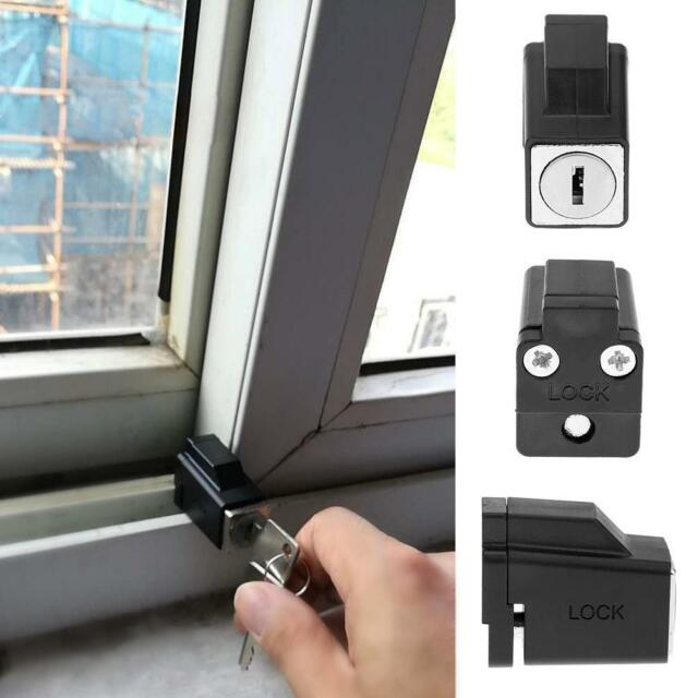 Aluminum Alloy Sliding Window Restrictor Lock Kids Baby Safety Limiter w/ 2 Keys & Aluminum Alloy Sliding Window Restrictor Lock Kids Baby Safety ...