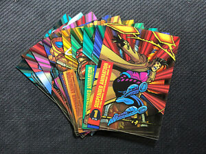 1994-MARVEL-UNIVERSE-SUSPENDED-ANIMATION-COMPLETE-10-CARD-SET-VENOM-THING