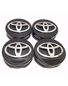 "4 pcs Toyota Wheel Center Cap Camry Corolla Avalon Black Chrome 62 MM // 2.44/"""