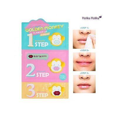Holika Holika Golden Monkey Glamour Lip 3-Step Kit - FREE Shipping, From CA, USA