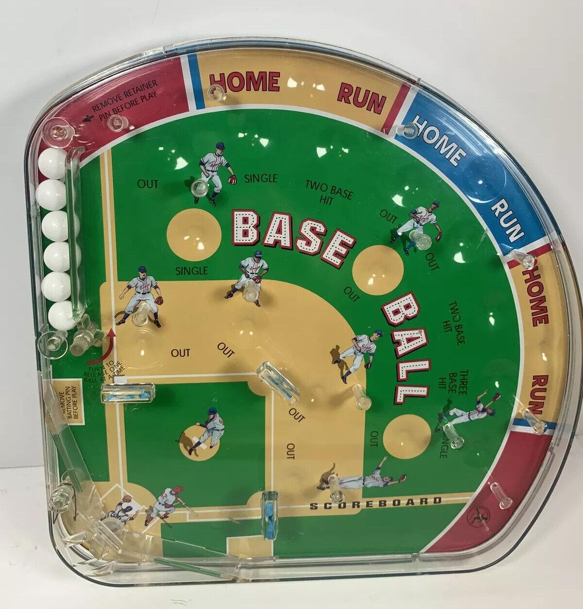 Vintage 2001 Schylling Play Ball Baseball Pinball Game Giants Lot Of Fun To Play