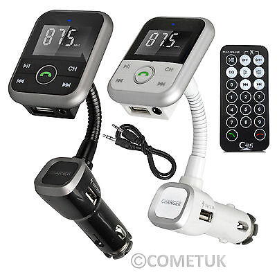 Wireless Bluetooth Car Kit FM Transmitter Radio MP3 Player LCD SD USB Charger