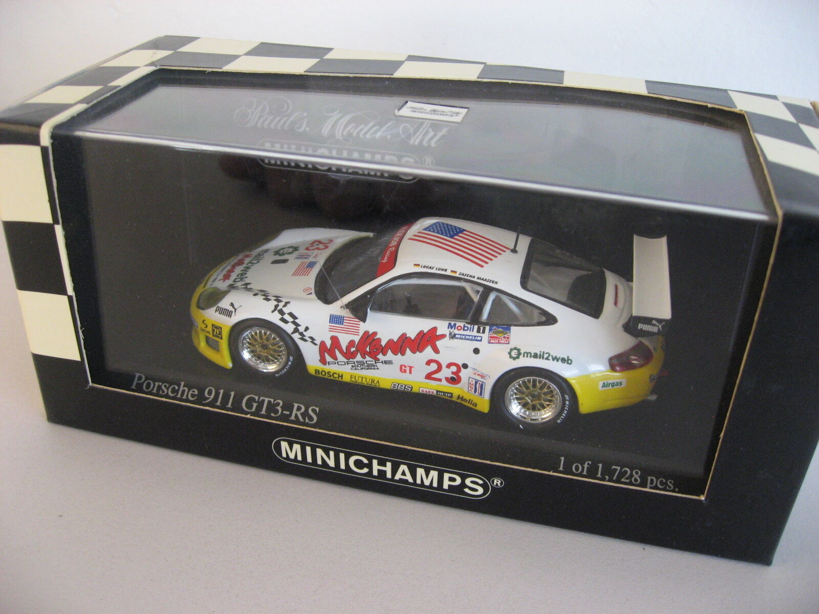 2003 Porsche 996 911 GT3 RS Sebring 12 hr winner 1 of only 1,728 1:43 Minichamps