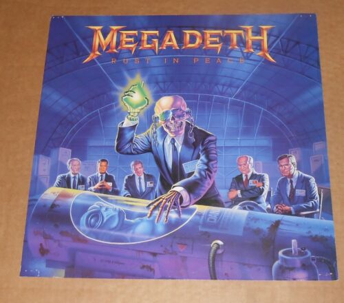 Megadeth Rust in Peace Poster 2-Sided Flat Square 1990 Promo 12x12 RARE