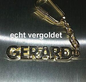 Büro & Schreibwaren Edler SchlÜsselanhÄnger Gerard Vergoldet Gold Name Keychain Geschenk Neu