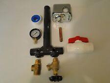 SCH 80 PVC 1 x 11 PRESSURE Tank Tee Install KIT Water Well + PVC BALL  VALVE