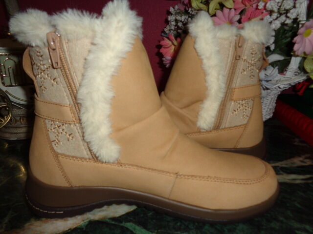 JAMBU TAN SYCAMORE FAUX FUR LINED WINTER BOOTS 8.5M NEW WITHOUT BOX