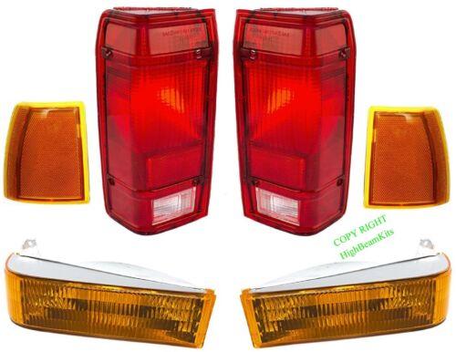 89 90 91 92 FORD RANGER 6PC Front /& Tail LIGHT KIT Bronco II 91 94 Explorer