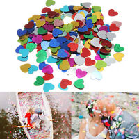 2000pcs Mixed Color Love Heart Confetti Scraps Paper Wedding Party Table Decor