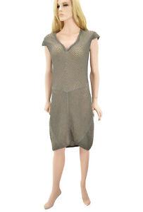 550-MISSONI-Bronze-Femme-Longueur-Genou-Robe-Taille-M