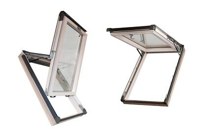Eindeckrahmen U=1,3 W/m²k Dachfenster Holzfenster 94x118 118x94 Schwingfenster Baustoffe & Bauelemente Holzfenster