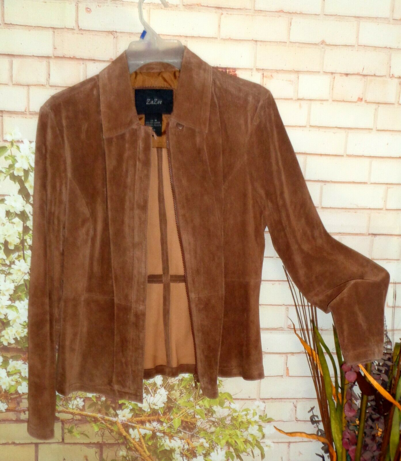 Brown Suede Leather Jacket size M