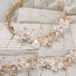 Women-Wedding-Bridal-Pearl-Tiaras-Headband-Hair-Clip-Decoration-Accessories