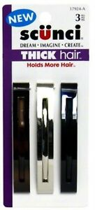 Scunci-Thick-Hair-Barrettes-3-ea-Pack-of-2