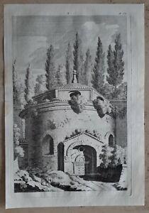 Jacopo-AMIGONI-1682-1752-Original-Kupferstich-Anno-1739-Italien-Rom-Antike-18