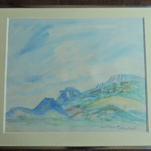 a signed original water color painting by raul anguiano