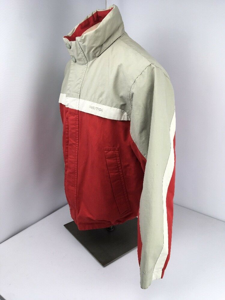 Nautica Jacket Vintage Reversible Bomber Men L La… - image 6