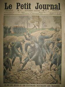 WW1-TRANCHEES-ROI-DES-BELGES-COSAQUES-RUSSIE-COMBATS-LODZ-LE-PETIT-JOURNAL-1914
