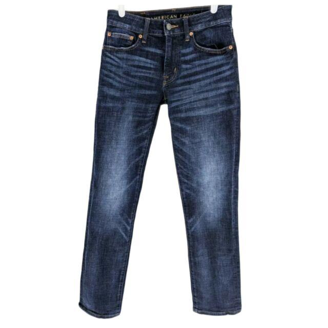 American Eagle AEO Next Level Flex Men's 28 X 30 Slim Straight Jeans Blue