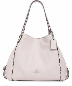 00615f207d8f COACH Scalloped Edie 31 Soft Pink 29800 Polished Pebble Leather ...