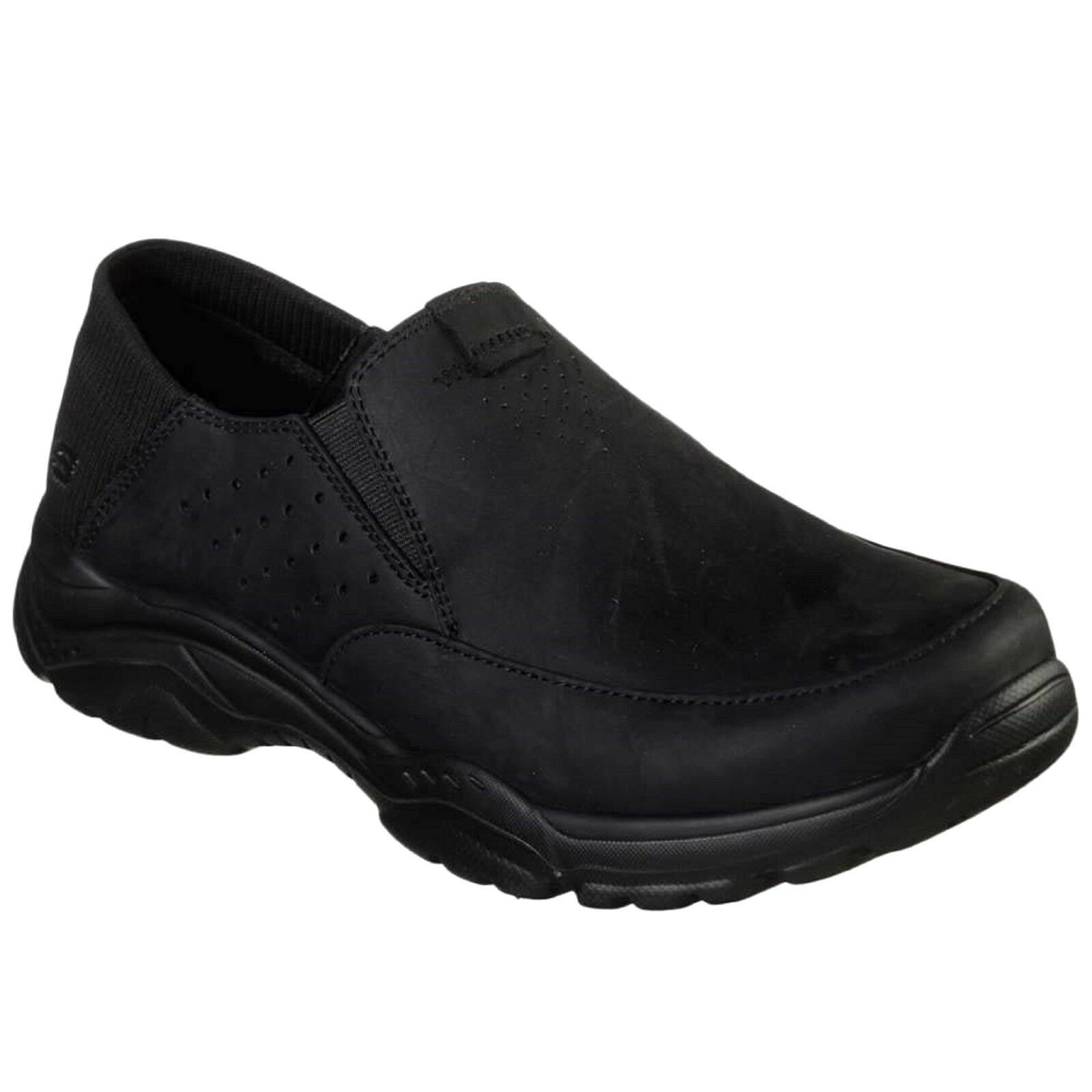 65719/BLK 65719/BLK 65719/BLK Skechers, Relaxed Fit Rovato Masego Uomo Slip On Loafers 7294a6