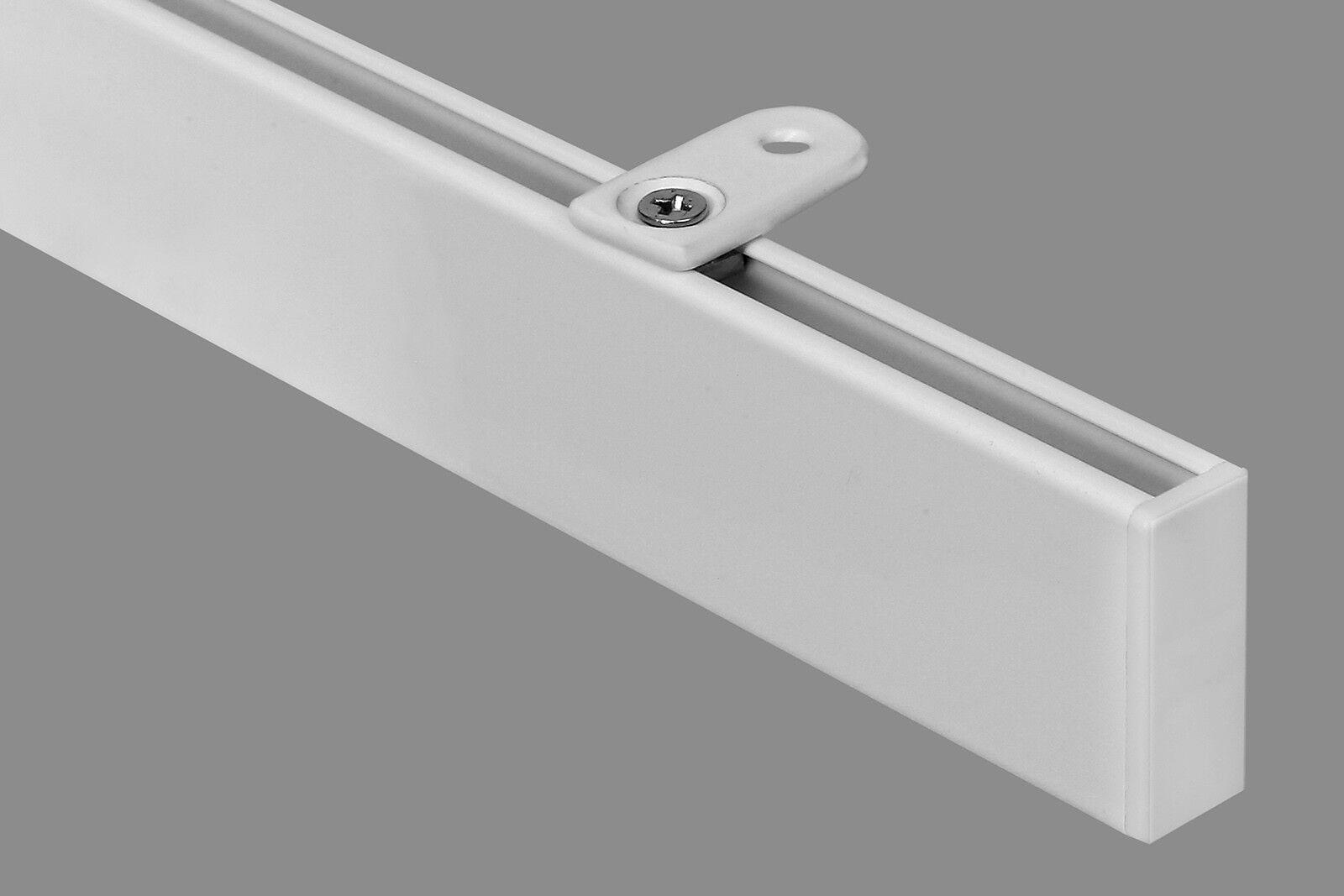 Gardinenstange Modern gardineum vorhangstange m. deckenhalterung modern weiß gardinen