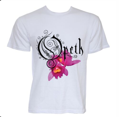 OPETH ORCHID BAND T-SHIRT BLACK MUSIC ROCK SIZES COTTON HEAVY DEATH METAL LILLY