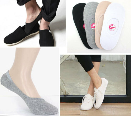 Womens /& Mens Footies,Socks//prevent flaking silicone galoshes//3,4,8Pairs//4Color