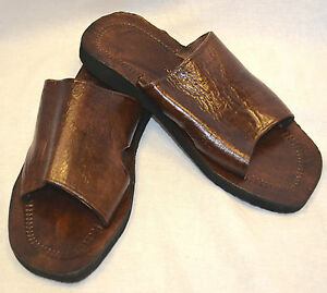 HANDMADE-MOROCCAN-LEATHER-SANDALS-slippers