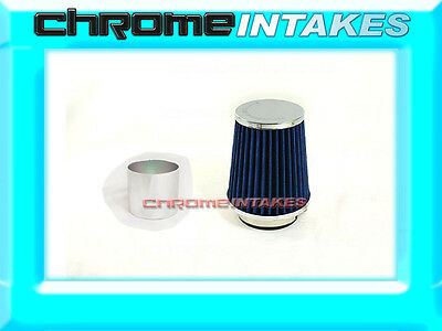 """SILVER UNIVERSAL 3/"""" CONICAL AIR FILTER FOR FORD SHORT//COLD AIR INTAKE 01-12"""