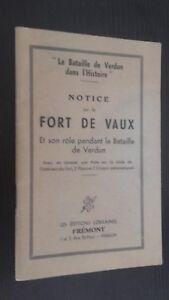 Instrucciones En El Fuerte De Vaux Batalla Verdun Ed. Fremont Pin Buen Estado