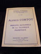 Partition Principes rationnels de la technique pianistique Cortot Music Sheet
