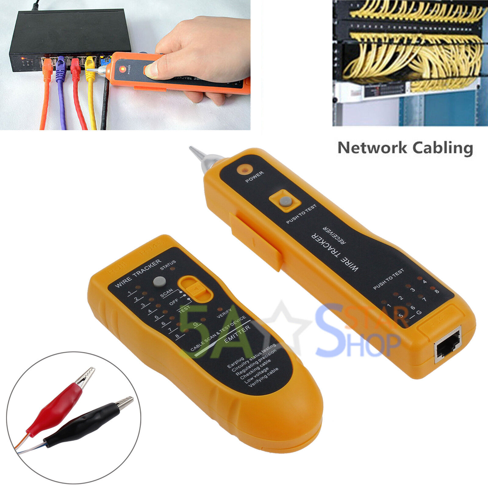 Telephone//Phone Network Cable Tester Wire Line LAN Cable RJ Tracker Tracer Toner