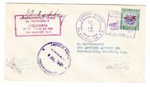 Salvador-Sc-C19-FIRST-FLGHT-Mu-39-SAN-Salvador-JUL-1-1931-REGISTERED-TO