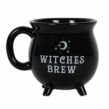 Witches Brew Cauldron Mug Black Mug 10cm High Tea Coffee Soup Cup