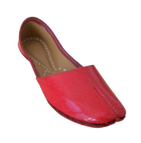 Kids Shoes Indian Handmade Leather Mojari Red Dress Shoes Jutties US 7-12