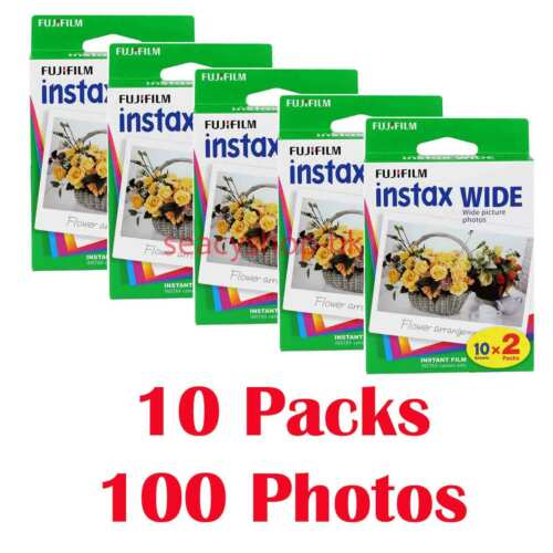 Fujifilm Instax WIDE Film 100 Fotos Película fotográfica instantánea 210 300