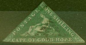 Cape-de-Bon-Hope-1859-1s-Dp-Fonce-Vert-SG8b-Ave-D-039-Occasion