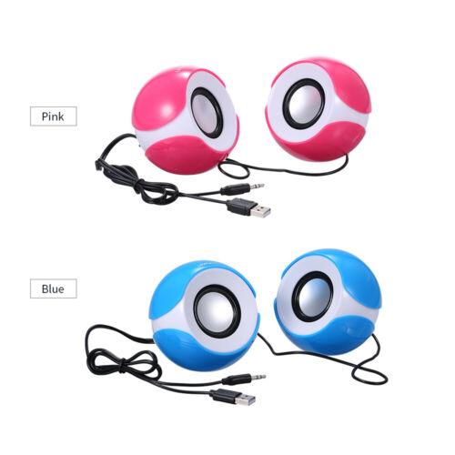 Mini Music Speaker Portable Music Speaker with 3.5mm Jack for Laptop//MP3 T4E9