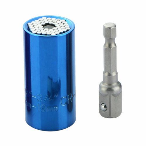 Adapter DE Universal Multi Funktions Nuss Steckschlüssel 7-19mm Handwerkzeuge
