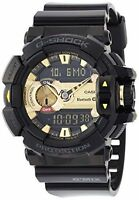 Casio Mens Shock Black & Gold Bluetooth Mix Music Watch Gba-400-1a9