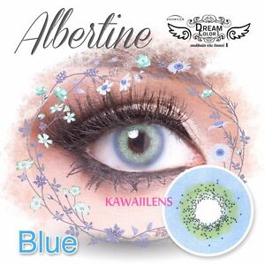 Kontaktlinsen-Contact-Lenses-Cosmetic-Soft-Eye-UV-Protection-Lens-Albertine-Blue