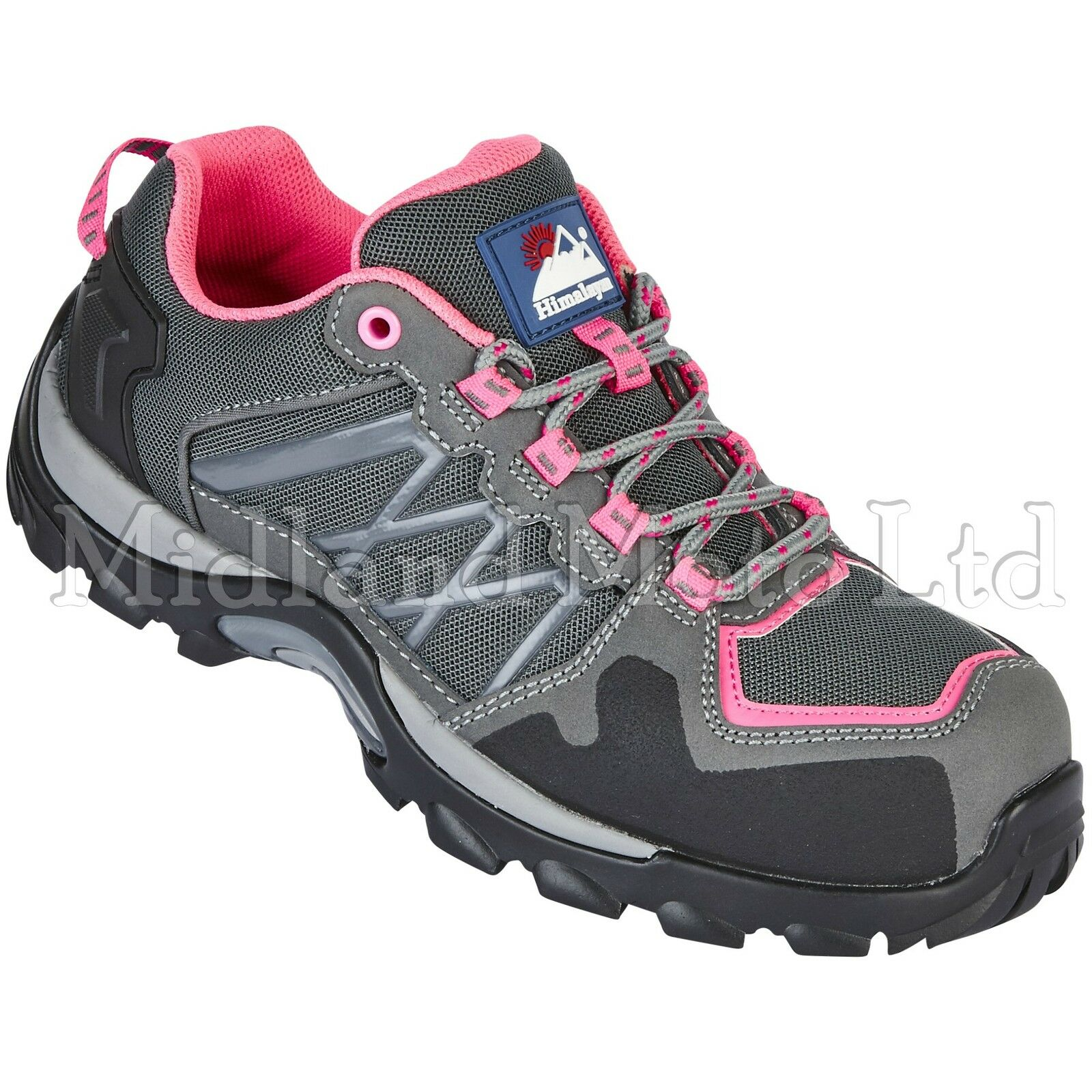 Himalayan Ladies Composite Toe Cap rose  Gris Metal Free Safety Trainers 4302