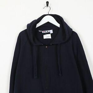 Vintage-FILA-Small-Logo-Zip-Up-Hoodie-Sweatshirt-Navy-Blue-XL
