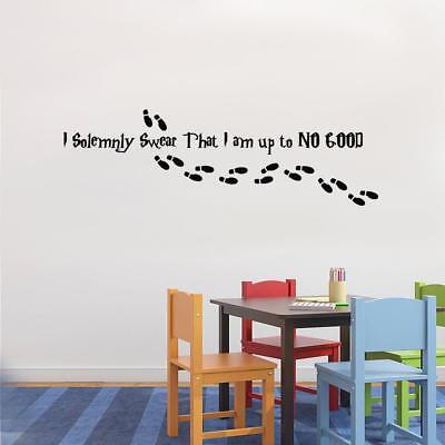 "/""I Solemnly Swear I Am up to No Good/"" Harry Potter Decal Sticker Window Wall Art"