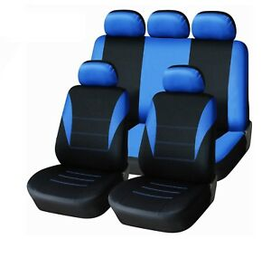 Image Is Loading 9PC UNIVERSAL LIGHT FULL CAR SEAT COVERS SET