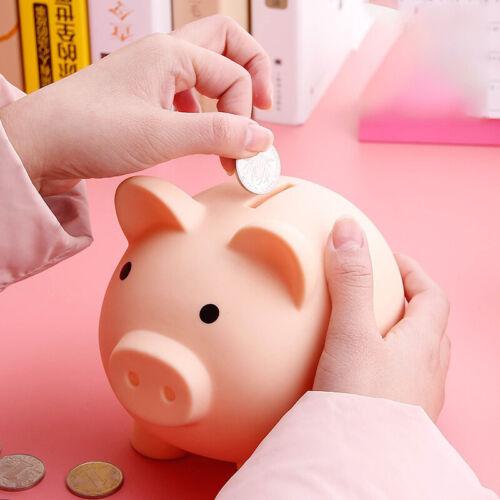 Cute Plastic Piggy Bank Coin Money Cash Collectible Saving Box Children Gift US