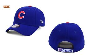 ed0c0c95604 Chicago Cubs New Era MLB Junior League Blue 9FORTY Strapback Cap Hat ...