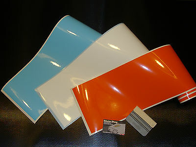 3 Bandes Strip Decal Le Mans Gulf Colors 190mm Stickers Pegatinas Aufkleber Ebay